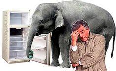 Encaixar um elefante no frigorífico?
