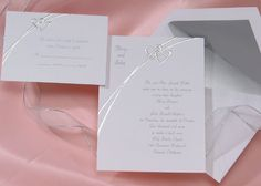 Silver hearts Wedding Invitations by Wedding Invitations -The Office Gal
