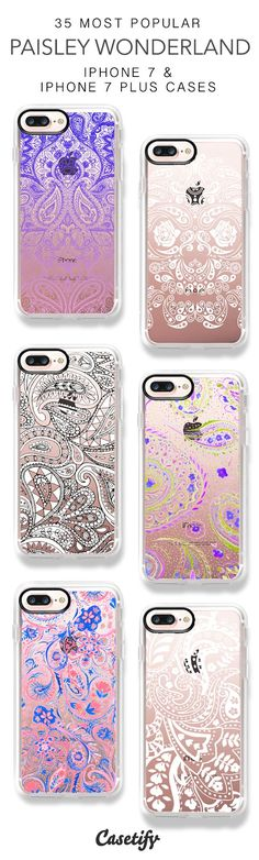 35 Most Popular Paisley Wonderland iPhone 7 Cases and iPhone 7 Plus Cases. More Paisley iPhone case here > https://www.casetify.com/collections/top_100_designs#/?vc=u7ZFsX1pb7