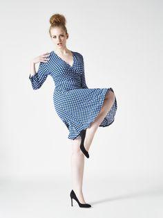 Full Figure gingham dress for spring