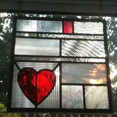 Not a mosaic as such, but a stained glass hanging I made on a course with Amanda Winfield at Abinger Stained Glass