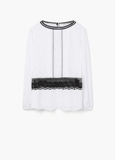 Блузка с мережкой - Рубашки - Женская | OUTLET Россия (Российская Федерация)