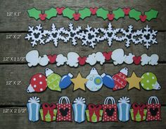 "Disney Scrapbook Page Embellishments ""A Disney Christmas"" Borders"