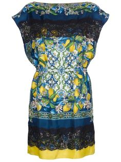 Dolce and Gabbana Lemon Print Tunic Dress