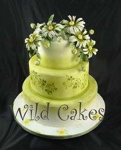 wild one birthday cake one tier - Kindergesundheit Pretty Cakes, Cute Cakes, Beautiful Cakes, Amazing Cakes, Daisy Wedding Cakes, Pastel Wedding Cakes, Spring Cake, Summer Cakes, Crazy Cakes