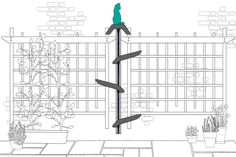 Catipilla: A Cat Climbing Frame That Makes Use of Vertical Wall Space http://www.floppycats.com/catipilla-a-cat-climbing-frame-that-makes-use-of-vertical-wall-space.html