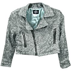 Glitter Me Motto Jacket (SILVER) by Valfre ($75) ❤ liked on Polyvore featuring outerwear, jackets, & - clothing - outerwear, silver jacket, blue cropped jacket, blue sequin jacket, cropped jacket and sequin jacket