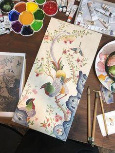 전주 다가동 - 봄그림화실 동양화 취미미술 - 다산과 행복의 상징 꿩과 석류화 : 네이버 블로그 Traditional Art, Oriental, Korea, Porcelain, Chinese, Asian, Blog, Painting, Porcelain Ceramics