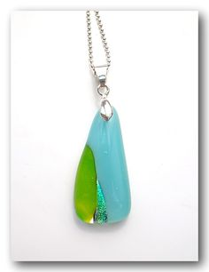 Fused glass pendant, Handmade jewelry, Beautiful Necklace. NT$450.00, via Etsy.