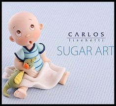 Young Child by Carlos Lischetti. Cake Topper