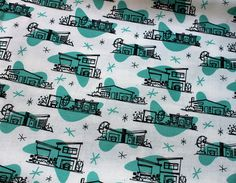Retro Kitchen Cafe Curtains by Vitamini, via Flickr