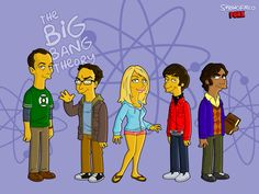 The Big Bang Theory un toque simpsonizados