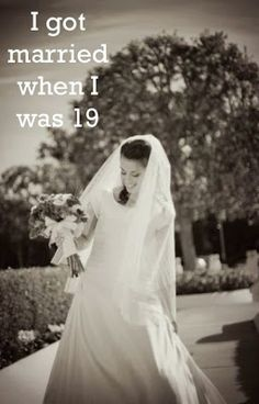 "Confession of a teenage bride.  Post about the feelings and appreciation of marriage, husbands, young marriage and big life decisions. ""My Secret's Out: I got married at 19"""