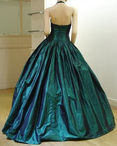 Harold Clarke Green Halter Ball Gown Picture #7