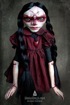 art doll SCARLET ACHERONTIA HorkaDolls