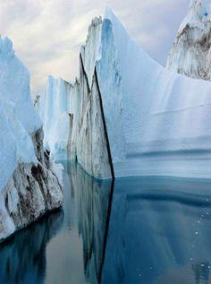 Jakobshavn glacier, Greenland, by James Balog
