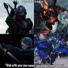 Vergil Dmc, The Devil Inside, Comedy Comics, Tales From The Borderlands, Devil May Cry 4, Dmc 5, Video Game Memes, Gamer Humor, Detroit Become Human