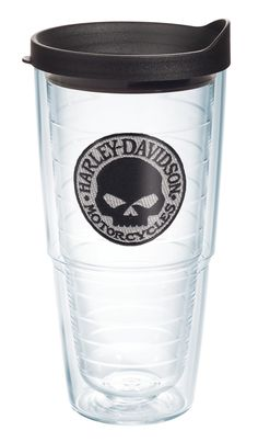 daed1a9715c Harley-Davidson® Willie G Skull Emblem 24oz Tervis Tumbler Harley Bikes, Harley  Davidson