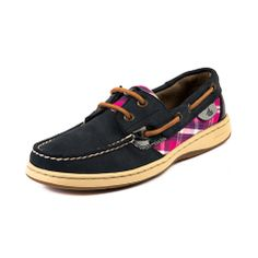 Shop for Womens Sperry Top-Sider Bluefish Boat Shoe in Navy Pink at Journeys Shoes. Shop today for the hottest brands in mens shoes and womens shoes at Journeys.com.Boat shoe by Sperry featuring a nubuck leather upper with pink plaid accent, top stitching on toe, and leather laces. Available exclusively at Journeys and SHI!