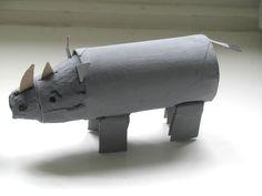 DIY: Paper Roll Rhino