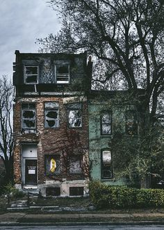 Abandoned Houses in North St. Louis, MO. Fine Art Photography and Wall Decor.