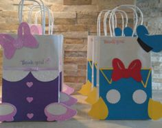 Mickey Mouse Club House Goody Bags set of 12 Donald Duck Party, Daisy Duck Party, Donald And Daisy Duck, Minnie Mouse Pink, Mickey Minnie Mouse, Minnie Mouse Decorations, Baby Girl First Birthday, Mickey Birthday, Mickey Mouse Clubhouse