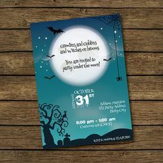 HALLOWEEN  Scary Night Party Invitation  Gremlins by BashDesigns15