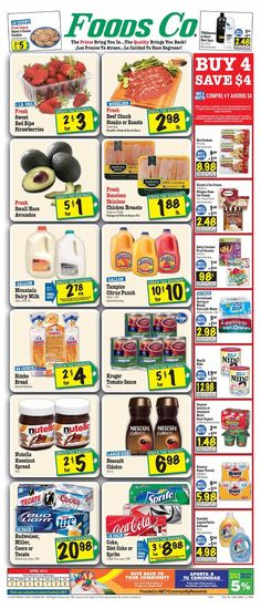 Foods Co 4/3 - 4/9 Weekly Deals & Coupon Matchups