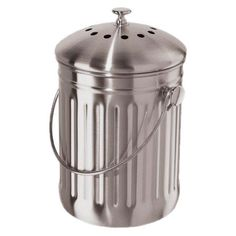 Stainless Steel Countertop Compost Pail.