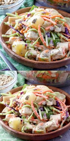 This easy spring and summer salad is delicious, and perfect for any picnic, barbecue or lunch! Also great with turkey, bacon or ham instead of chicken or add pepitas, blueberries, green onions or any bell pepper of your choice! Fruit Recipes, Summer Recipes, Salad Recipes, Chicken Recipes, Easy Salads, Summer Salads, Poppy Seed Chicken Salad Recipe, Weight Watchers Salad, One Dish Dinners