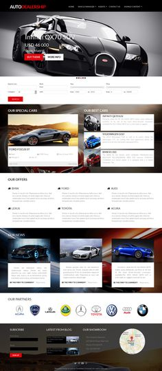 Auto Dealership is new responsive automotive car dealership website template built on latest Joomla 3.4.4 and remarkable Joomla extension for car's website management - Vehicle Manager v.3.6. Apart from fantastic look and feel this premium automotive Joomla template includes all necessary features to build professional car dealership website.