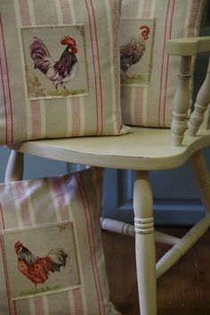 Cushions made by us using @Annie Sloan fabric collection.