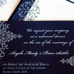 They customized the invitations with fonts and colors that matched their style and created a monogram, which they use throughout the day.