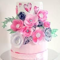 You have to see Decoupage cake and wafer peony by loopyscak2946481!