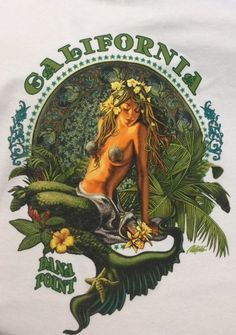 "Bella Bazaar ""Dana Point California Mermaid"" short sleeve T Mens"