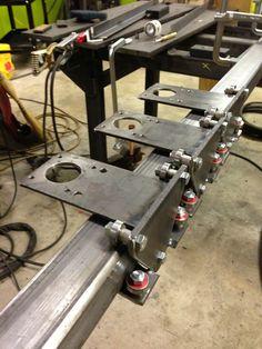CNC Plasma Cutter Iteration OK, we have motors, and a controller fo – Turtle Laboratories Cnc Plasma Cutter, Cnc Plasma Table, Cnc Table, Build A Table, Cnc Maschine, Diy Cnc Router, Cnc Parts, 3d Cnc, Metal Working Tools