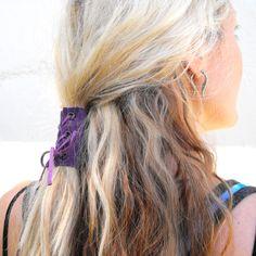 Celtic Gun Black Ponytail Wrap Leather Set Inch For Me - Diy ponytail wrap