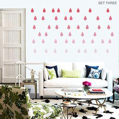 'raindrop' vinyl wall stickers by oakdene designs | notonthehighstreet.com