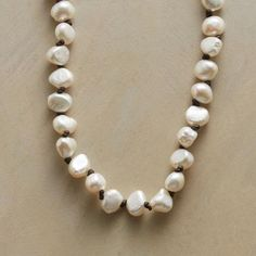 Hand-Knotted Freshwater Pearl Necklace                                              | Robert Redford's Sundance Catalog