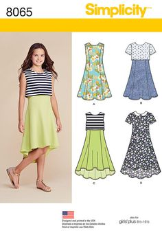 Simplicity Pattern 8065  Girls' / Girls' Plus by GGselections