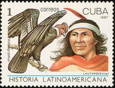 Znaczek: Lautaro, Chile; Andean Condor (Vultur gryphus) (Kuba) (Latin american history) Mi:CU 3124