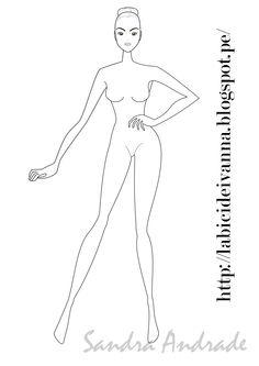 #figurin de #moda #ilustración #sketch