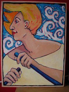 Woman in Boat by Joy Williams