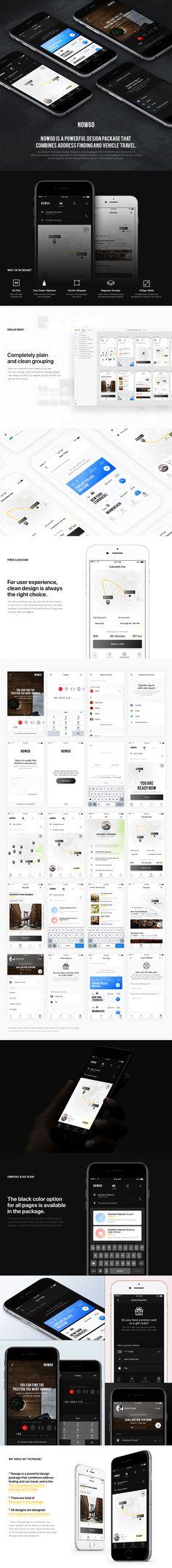 Nowgo UI Kit on Behance