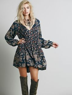Free People Lucky Loosey Shapeless Dress, $128.00 There's boho..and then there's hobo. Gotta clean up/grow up my style a bit.