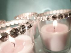 Swarovski Crystal Votive Candles - Chic Couture Wedding Accessory Votives For Your Wedding Reception by Panache Bride Bling Wedding, Crystal Wedding, Diy Wedding, Wedding Reception, Wedding Ideas, Wedding Flowers, Wedding Inspiration, Do It Yourself Quotes, Do It Yourself Wedding