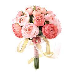 élégante rose rouge / rose de mariage ronde bouquet / mariée bouquet de la décoration en mousseline de soie – EUR € 32.99