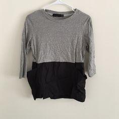 Zara black & grey top with pockets size S New never worn black & grey pocket tee size S Zara Tops