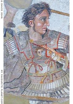 Alexander the Great wearing the Gorgoneion on the breastplate of his linothorax (armour made of layered and stiffened linen)