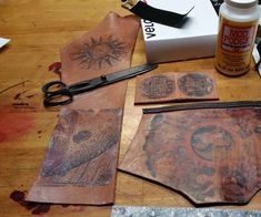 In this tutorial I will show you how to to transfer printouts onto leather without it cracking when you are done!